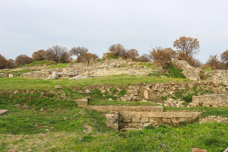Ruiny w Troja Turcja obraz royalty free