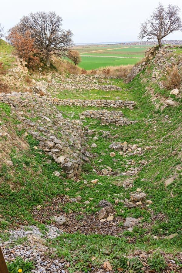 Ruiny w Troja Turcja fotografia royalty free