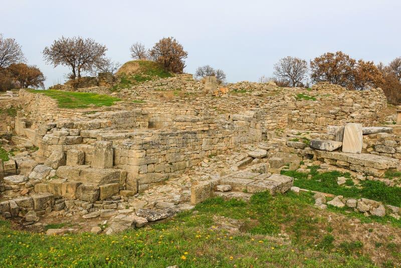 Ruiny w Troja Turcja obrazy stock