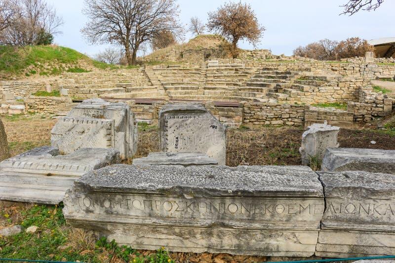 Ruiny w Troja Turcja obrazy royalty free
