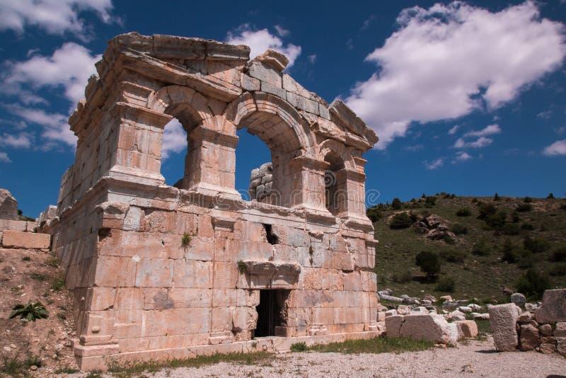 Ruiny w Tufanbeyli Adana, Turcja fotografia stock
