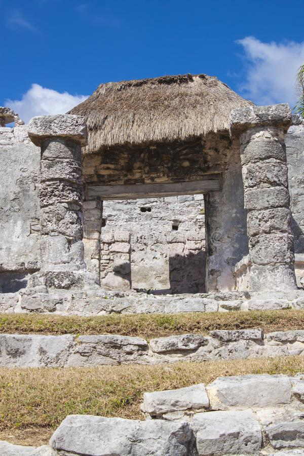 Ruiny w Tulum, Meksyk obraz royalty free