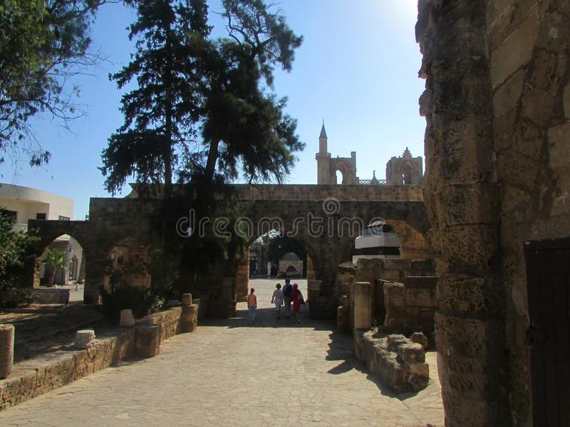 Ruiny Wenecki forteca Fomagusta, północny Cypr Opóźniony schwytany turczynkami obrazy stock