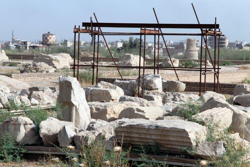 Ruiny wewnątrz Shush fotografia royalty free