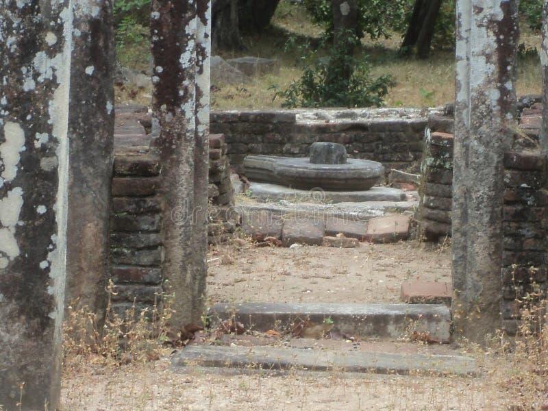 Ruiny ?wi?ty miasto w Sri Lanka fotografia royalty free