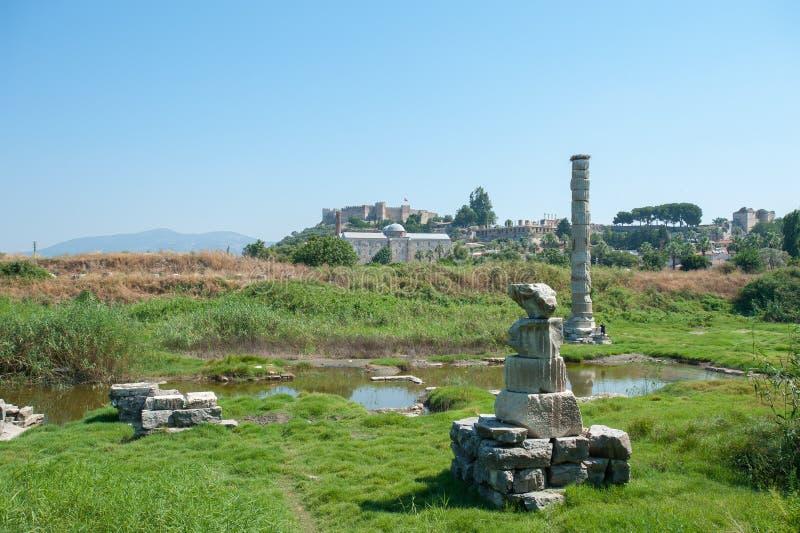 Ruiny ?wi?tynia Artemis, jeden siedem cud?w antyczny ?wiat Selcuk, Turcja, nasz dni obraz royalty free