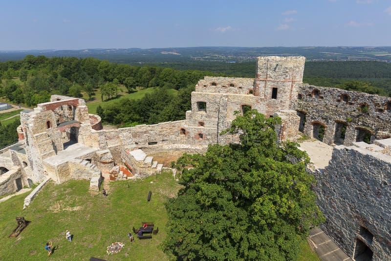Ruiny 15 wiek średniowieczny kasztel, Tenczyn kasztel, Polska jura, Rudno zdjęcia royalty free
