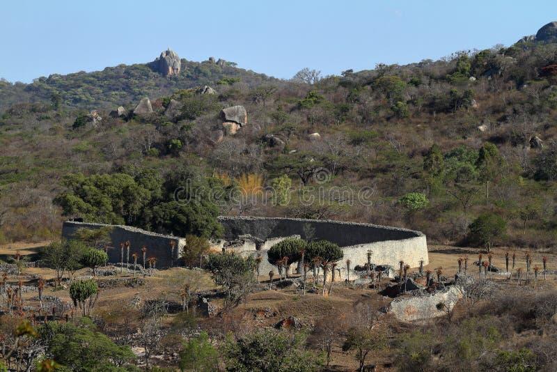 Ruiny Wielki Zimbabwe w Afryka zdjęcie royalty free