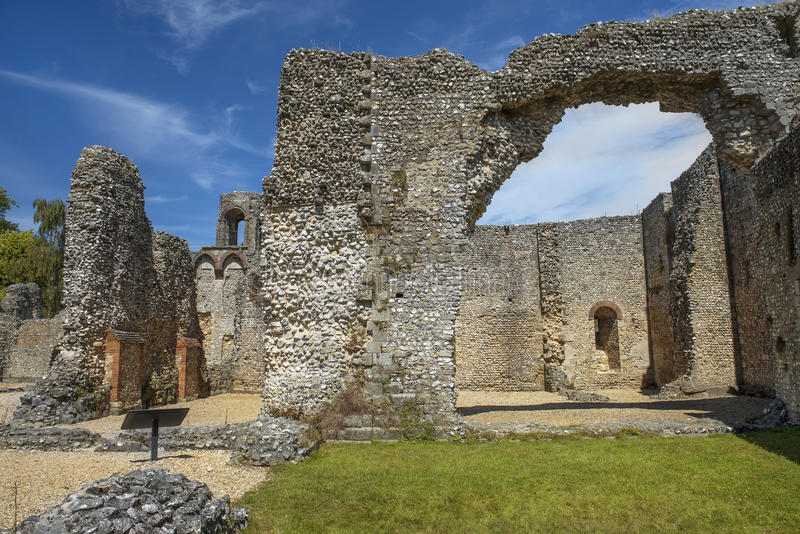 Ruiny Wolvesey kasztel, Winchester, Anglia fotografia royalty free