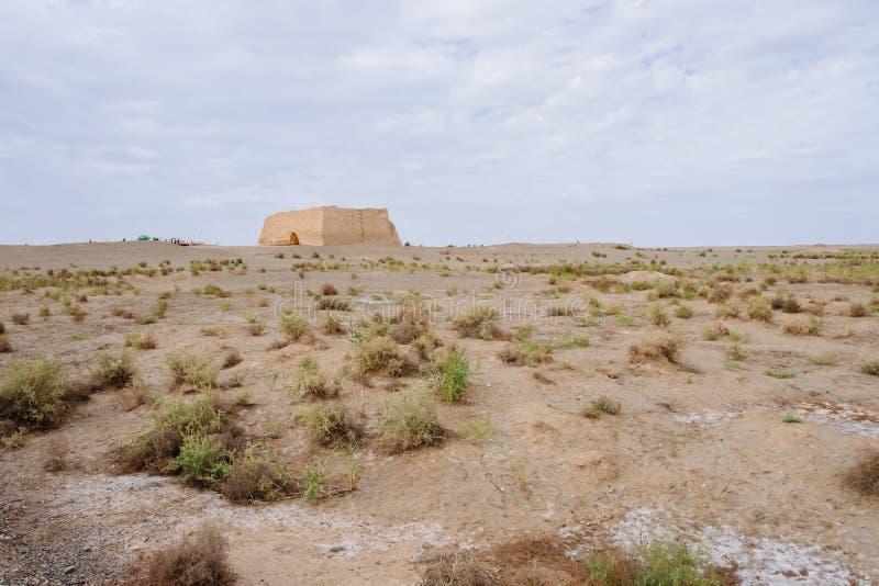 Ruiny Yumen Przechodzą Yumenguan Ming dynastii wielki mur w Gansu, północny zachód Chiny obraz stock