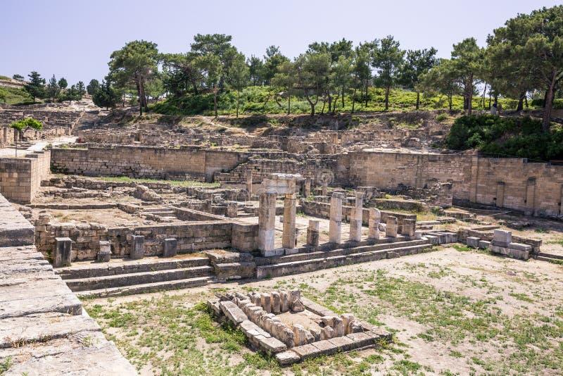 Ruis antiques des kamiros en Rhodes, Grèce images stock