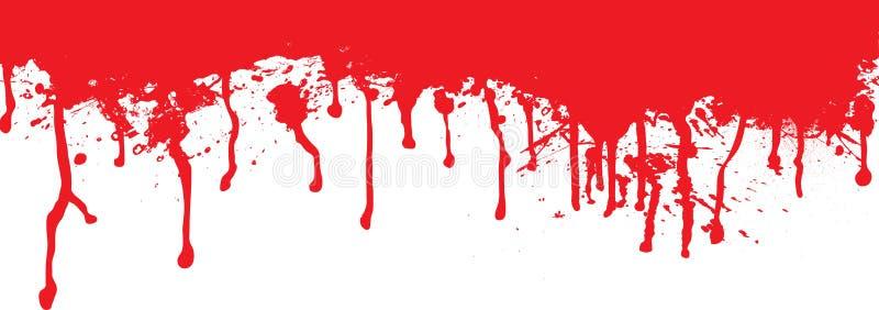Ruissellement de splat de sang illustration stock