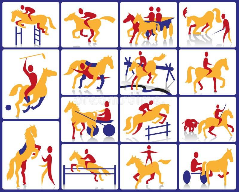 Ruiter en circus stock illustratie