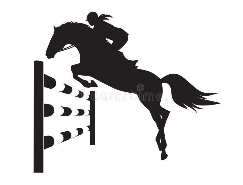 Ruitercompetities - vectorillustratie van paard vector illustratie