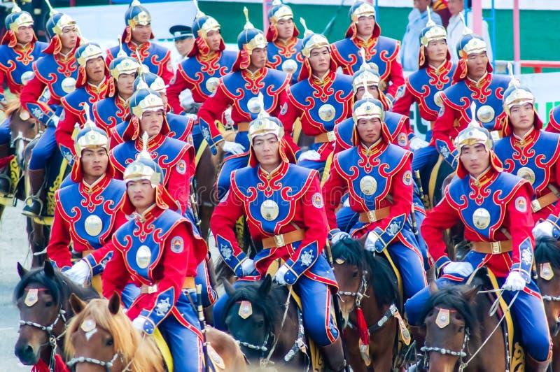Ruiters bij de Openingsceremonie van Nadaam royalty-vrije stock foto