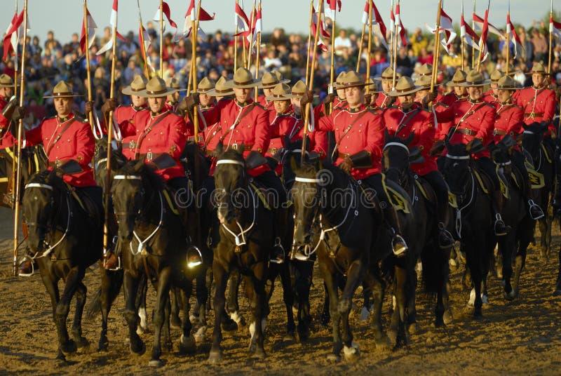 Ruiters RCMP royalty-vrije stock foto's