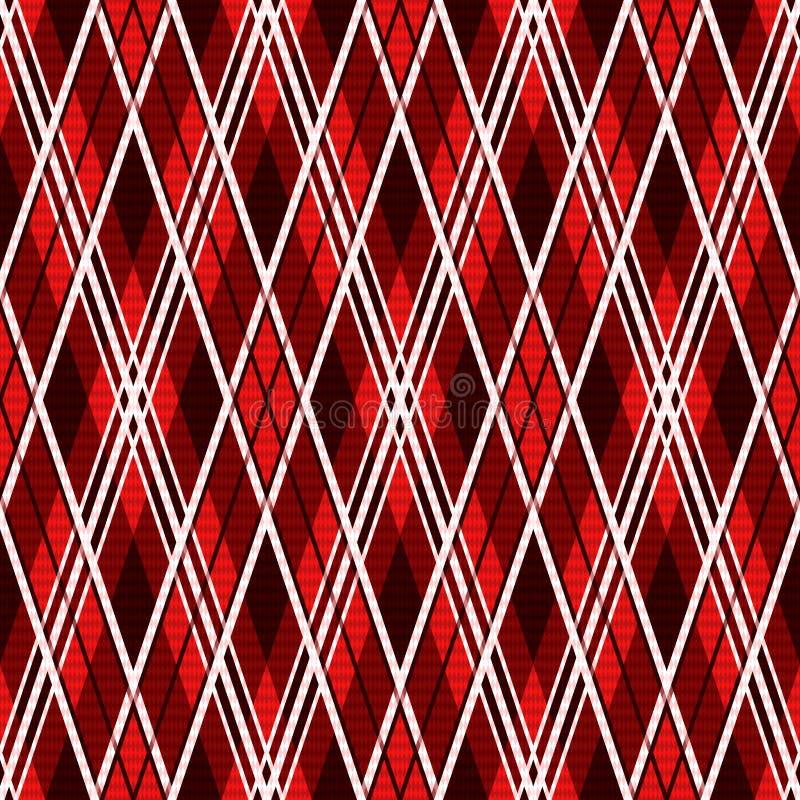 Ruitvormig naadloos patroon in rode tinten vector illustratie