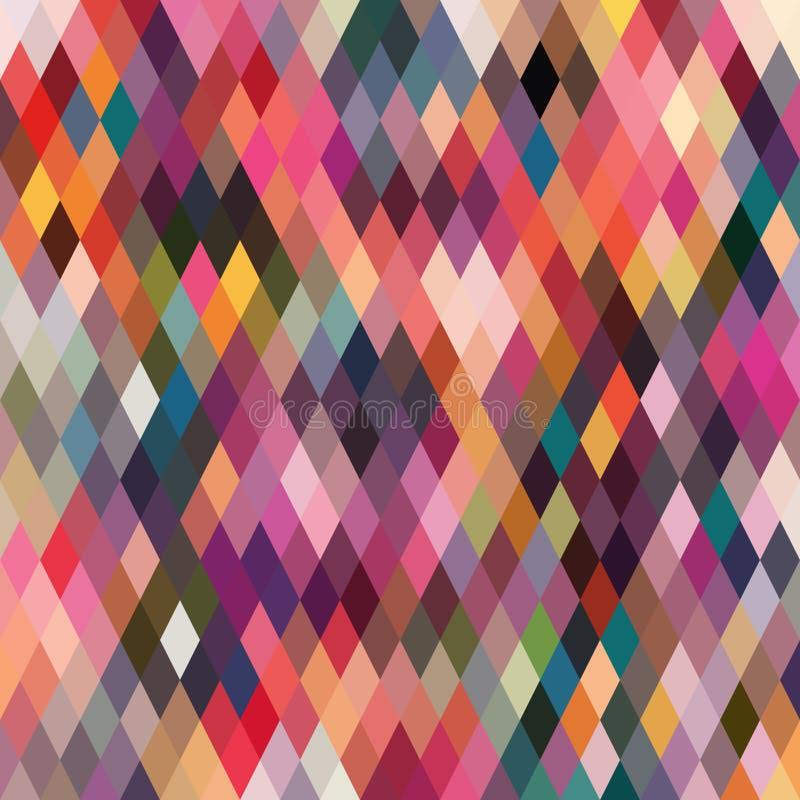 Ruitvormig patroon van geometrische vormen Textuur met stroom van spectr royalty-vrije illustratie
