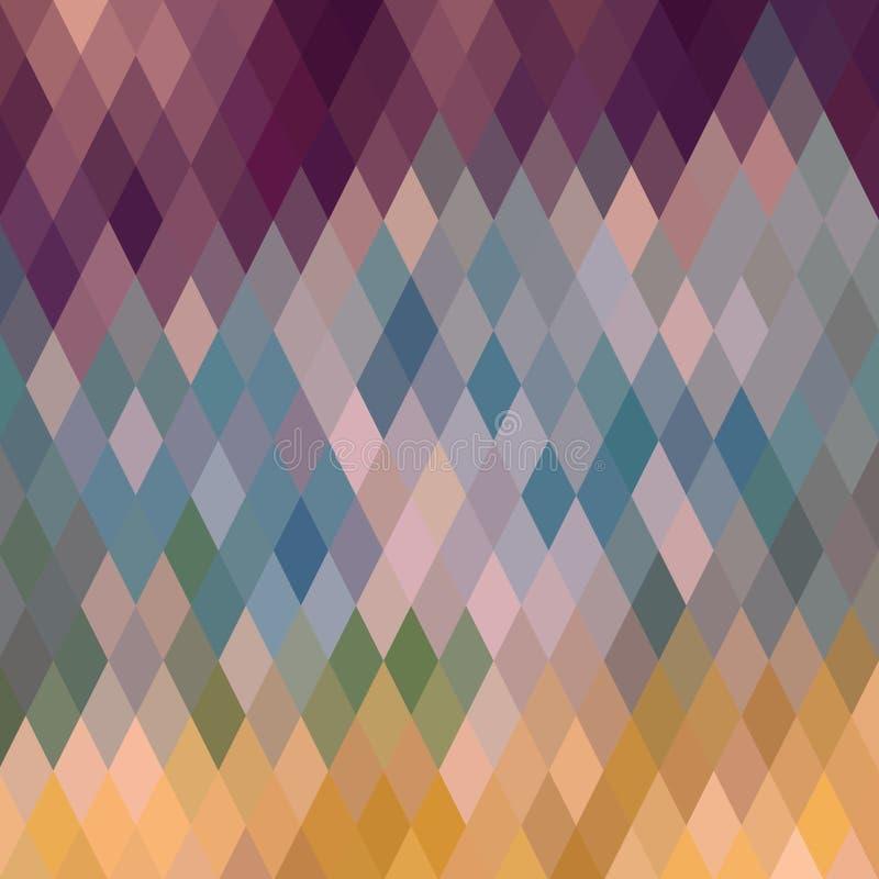 Ruitvormig patroon van geometrische vormen Textuur met stroom van spectr vector illustratie