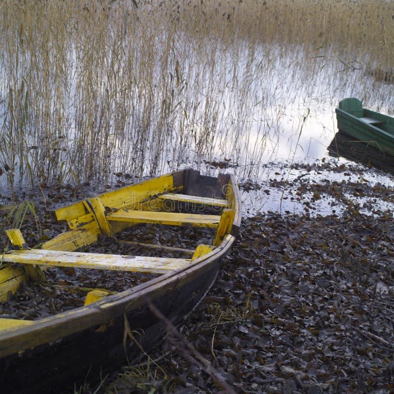 Rujnować Wioślarskie łodzie zdjęcie royalty free