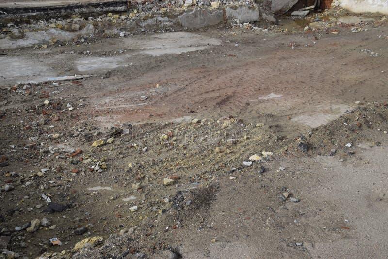 rujnująca podstawa stary budynek ściany piwnica wyburzający budynek i gruzy, obrazy royalty free