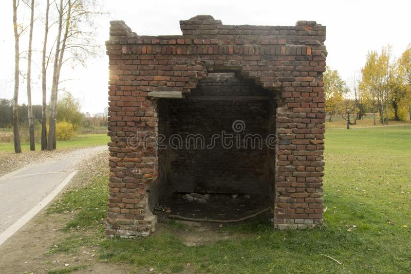Rujnujący budynki w ruinach zdjęcie stock