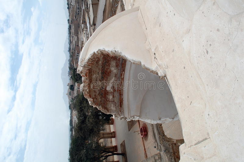 rujnujący kopuła monaster zdjęcia stock