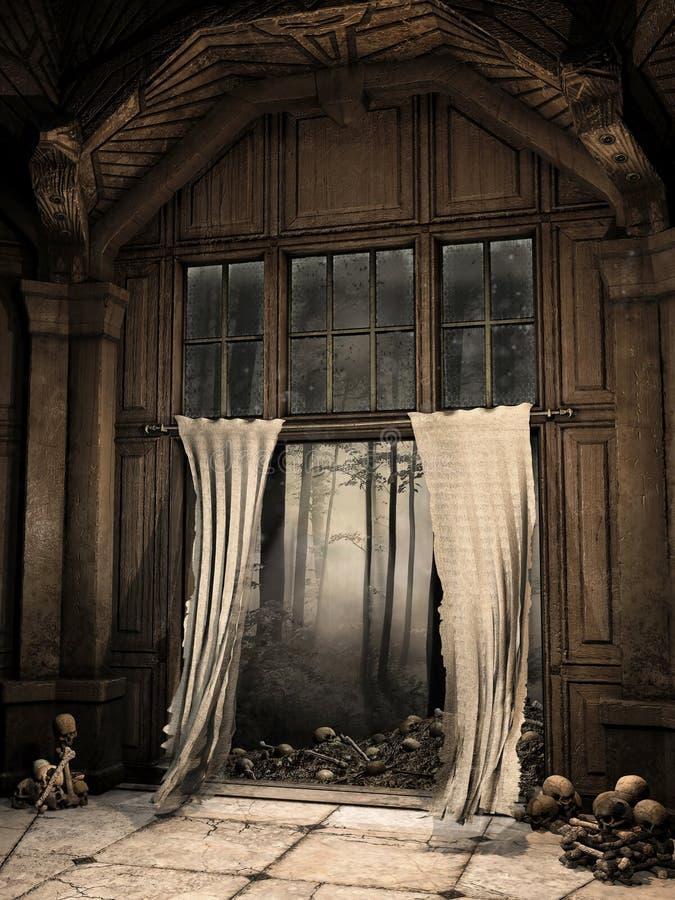 Rujnujący korytarz ilustracji