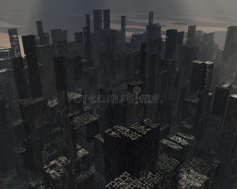 Rujnujący miasto ilustracji