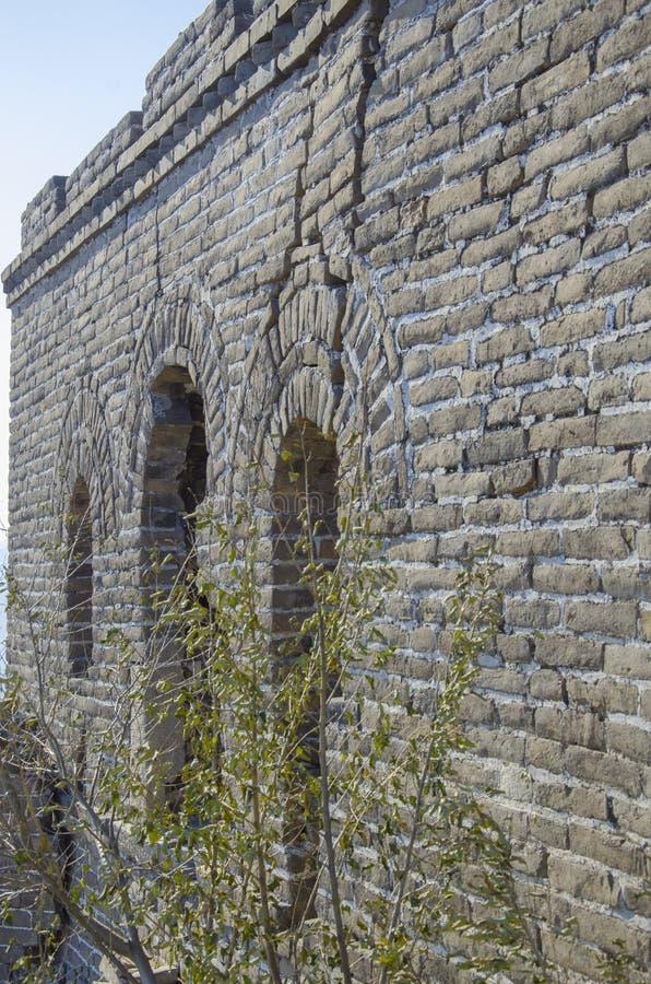 Rujnujący okno wielka Chińska ściana zdjęcia stock