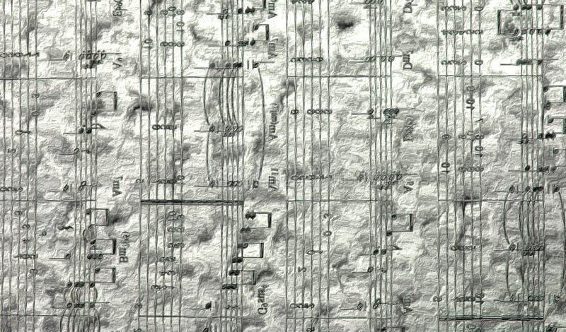 Rujnujący prześcieradło stara piosenka ilustracja wektor