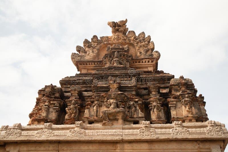 Rujnujący wierza Sri Krishna świątynia w Hampi, India obrazy royalty free