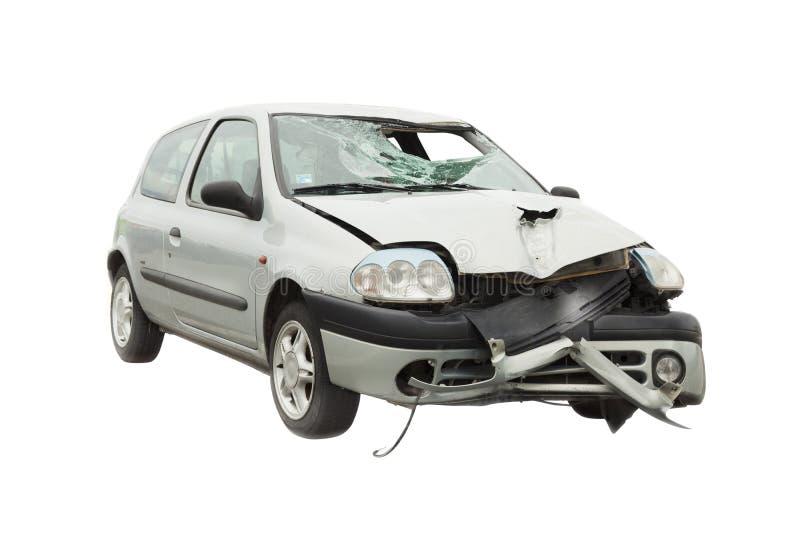 Rujnujący wypadek samochodowy obrazy royalty free