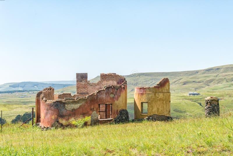 Rujnuje blisko michaelita Cowl w Natal Drakensberg fotografia royalty free