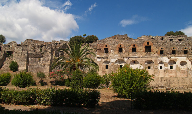 rujnuje pompei wulkan fotografia royalty free