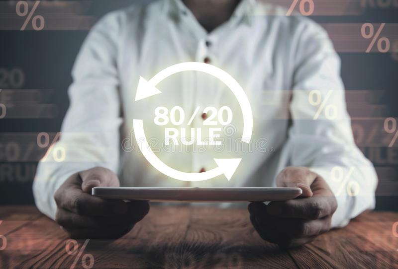 80/20 rule. Concept for Pareto principle. Business concept royalty free stock images