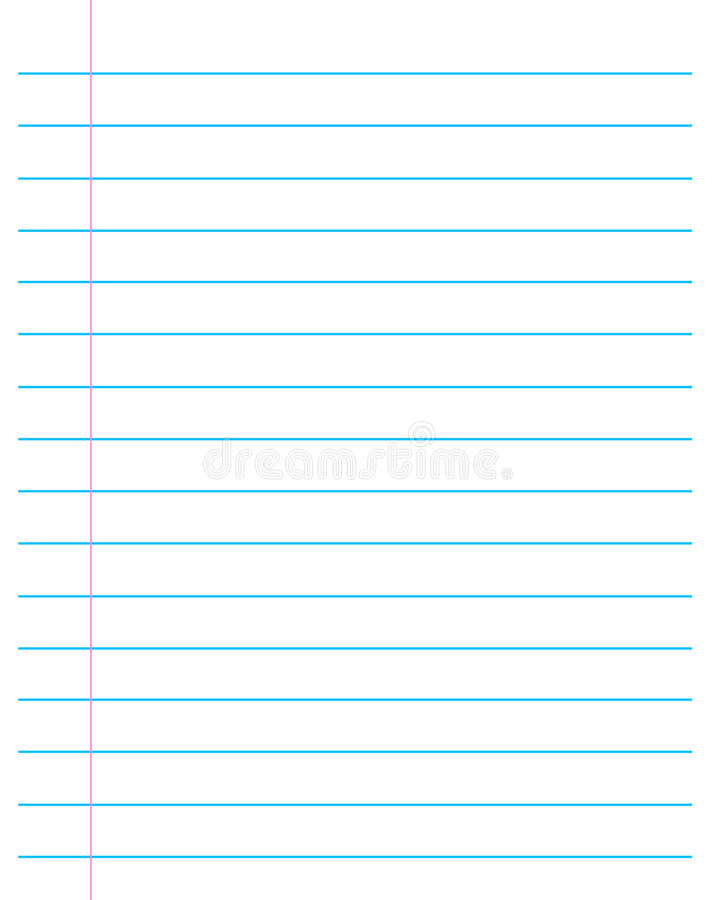 Ruled Paper  Lined Page Stock Vector Illustration Of Papers
