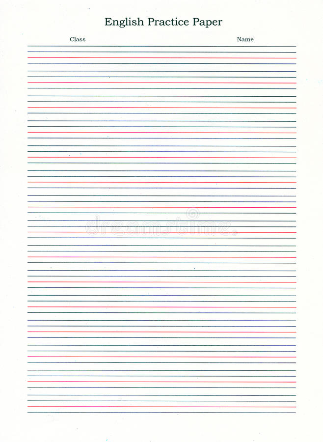 blue lined writing paper