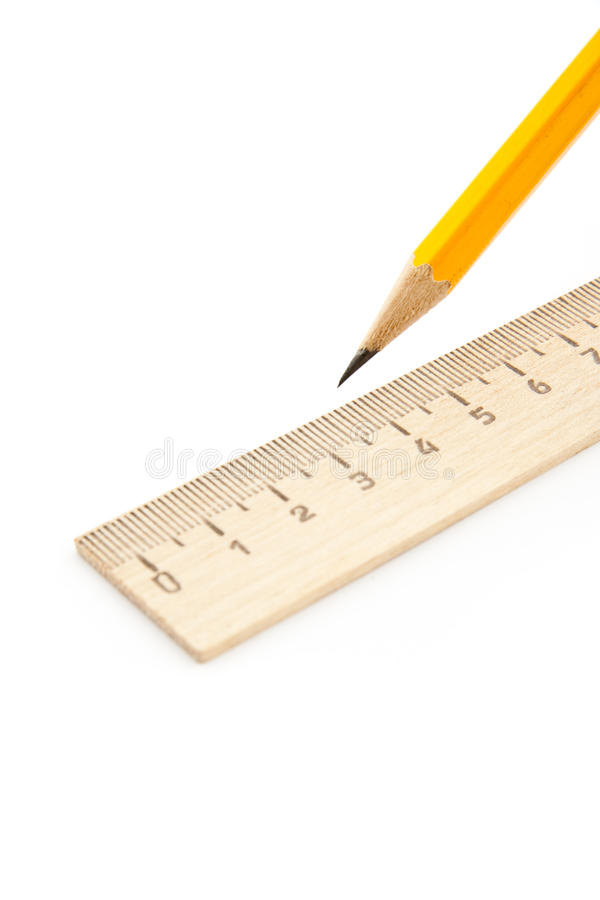 Free Ruler And Pencil Stock Image - 13404811