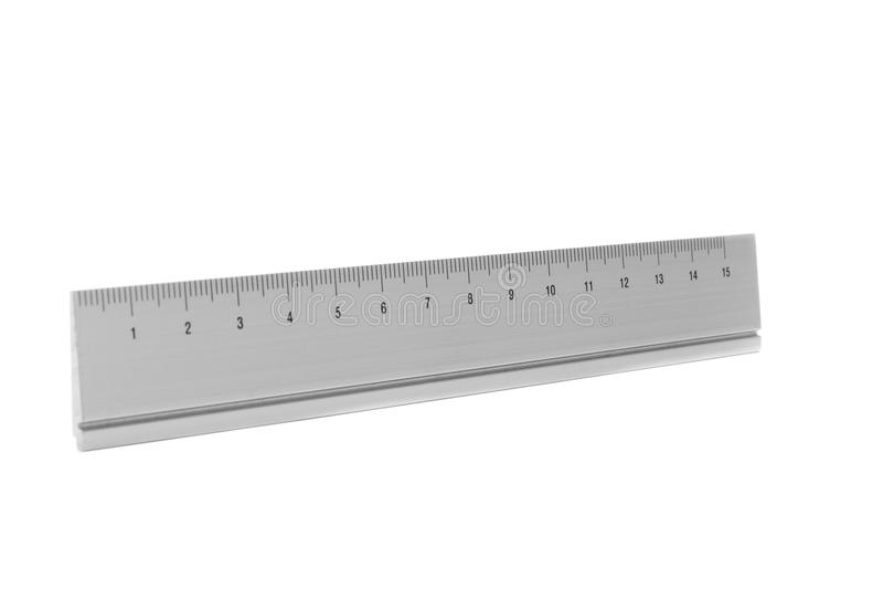Ruler isolated on white stock photo