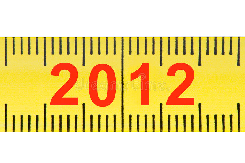 Download Ruler With Numbers 2012 Closeup. Stock Illustration - Illustration of accuracy, measure: 22104883