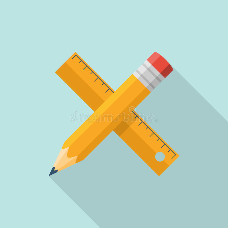 Ruler pencil icon royalty free illustration