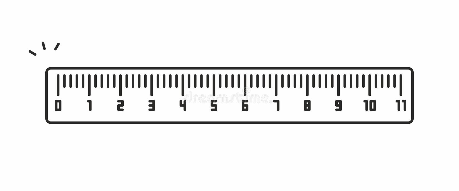 Ruler vector icon royalty free illustration