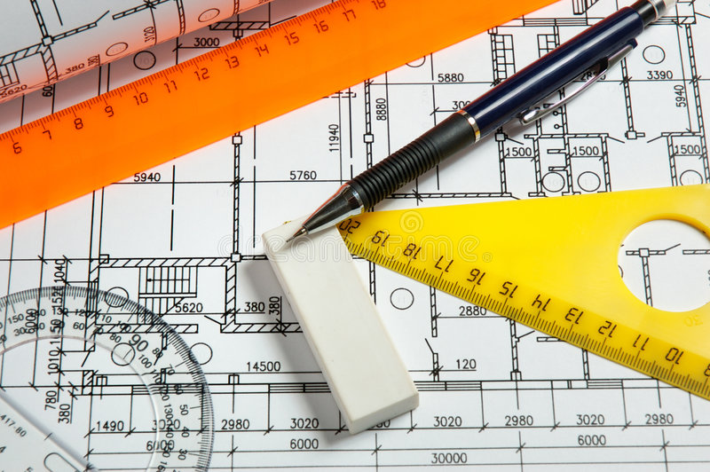 Download Rulers and plans stock photo. Image of triangle, shape - 7110064