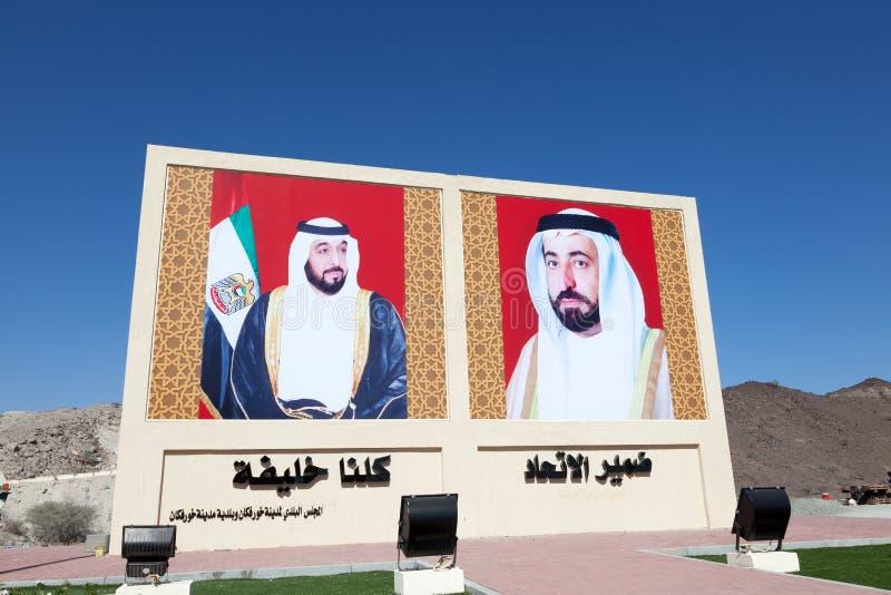 Rulers of the United Arab Emirates stock image