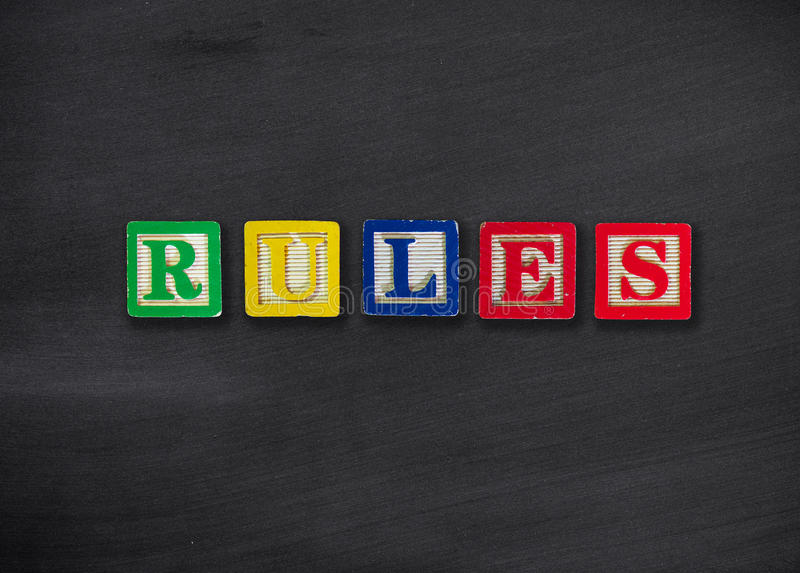 Rules concept royalty free stock photography