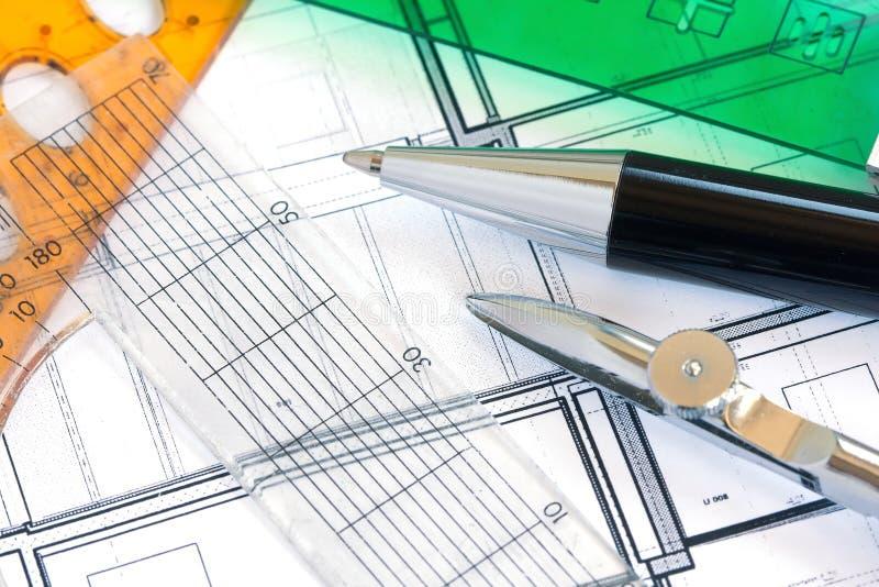 Download Rules, Pens On Design Paper Stock Illustration - Image: 25965050