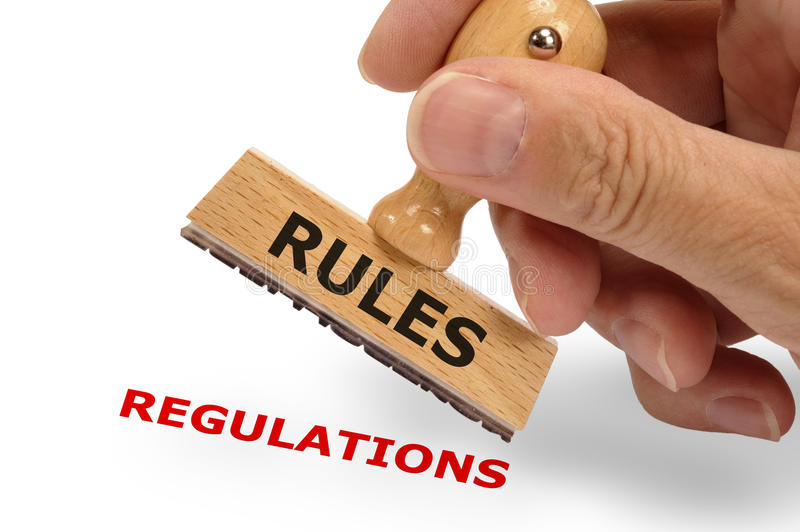 Rules and regulations stock images