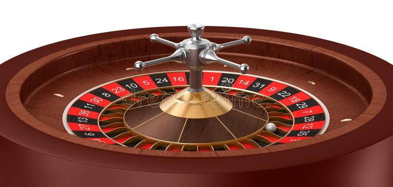 Ruleta del casino aislada libre illustration