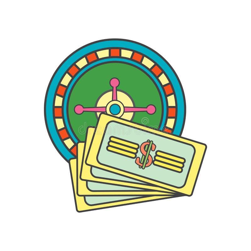 Ruletowy ikona wektoru znak i symbol odizolowywający na białym tle, Ruletowy logo pojęcie ilustracja wektor